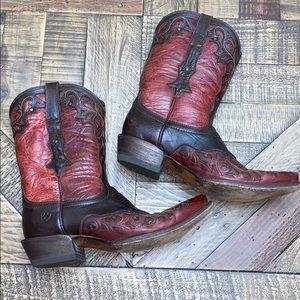 Ariat lady's Veracruz red/brown western boots